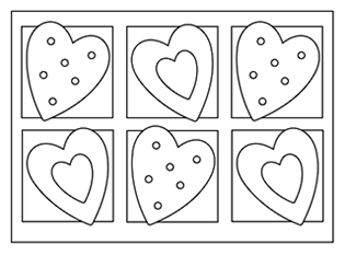 image about Printable Valentine Coloring Page titled Loaded Animal Sewing Habits: Squishy-Lovely