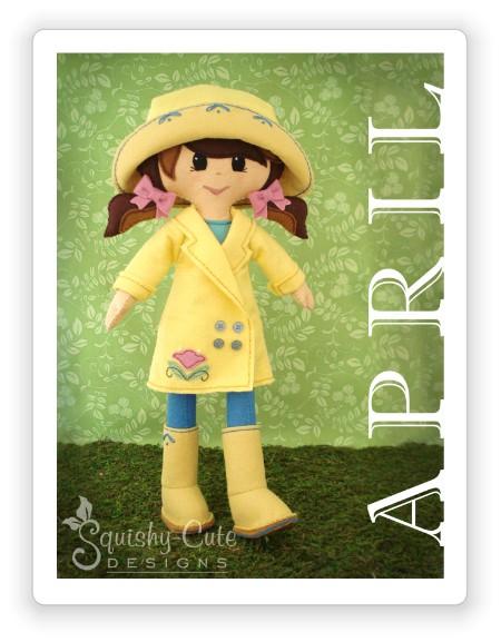 doll sewing pattern, felt