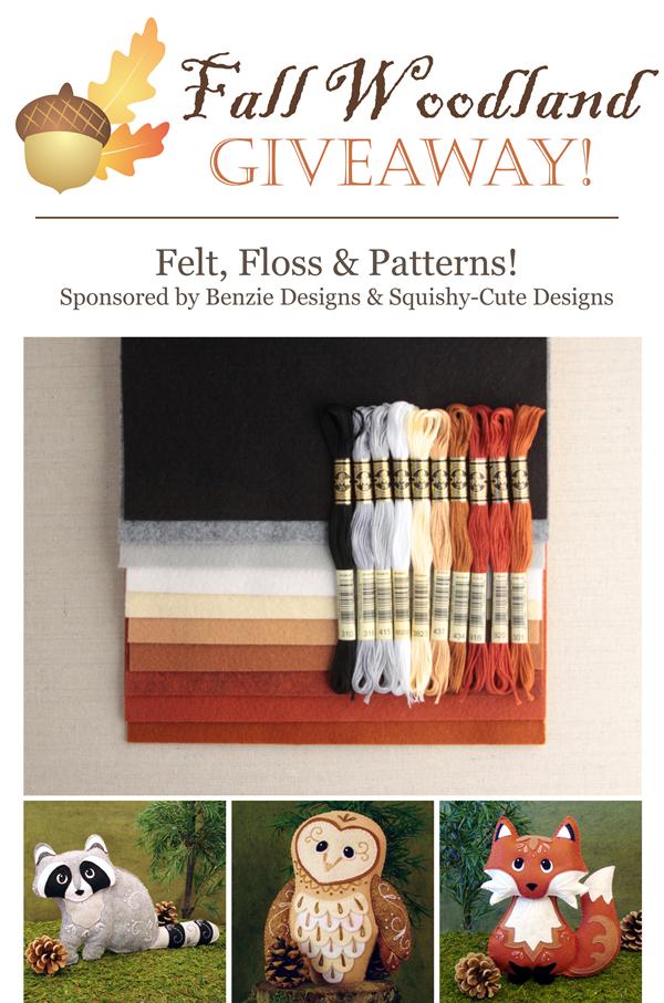 felt giveaway, pattern giveaway, woodland animals, wool felt, animal patterns, fox pattern, sewing patterns