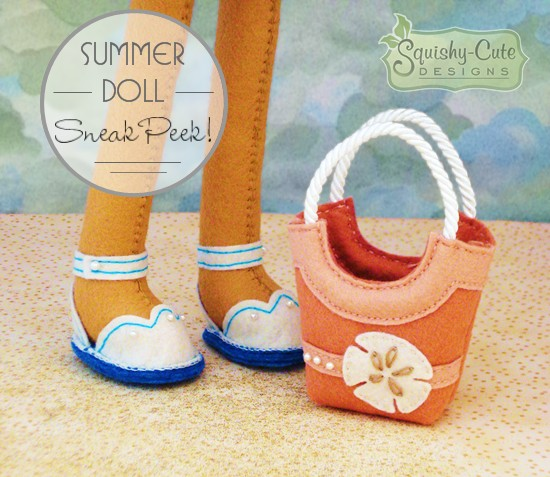 summer doll, rag doll, beach doll, doll pattern, sewing pattern, rag doll pattern, plush doll, beach bag, sandals