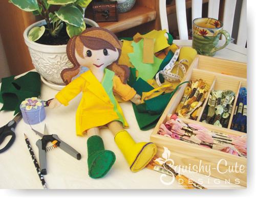 rag doll, doll pattern, sewing