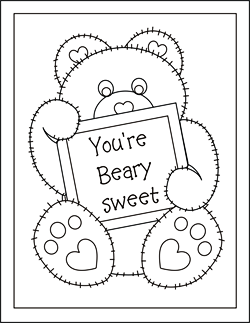 printable Valentine cards for kids, free printable valentine cards, valentine coloring cards, free coloring cards, valentine exchange cards, classroom valentine cards, valentine's day exchange cards, homemade valentine cards, mini valentine cards, teddy bear cards, valentine greeting card