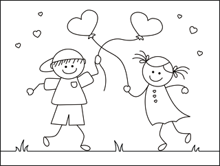 printable Valentine cards for kids, free printable valentine cards, valentine coloring cards, free coloring cards, valentine exchange cards, classroom valentine cards, valentine's day exchange cards, homemade valentine cards, mini valentine cards, stick people coloring, valentine greeting card