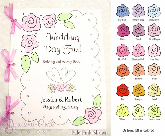 Wedding Goodie Bags Wedding Coloring Books Wedding Kids Activities