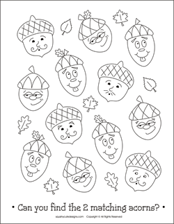 free thanksgiving coloring pages acorn coloring pages fall coloring pages back to school
