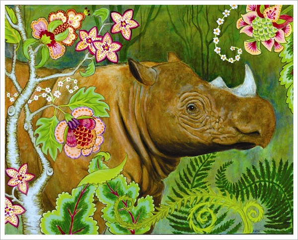 ande hall, rhino painting