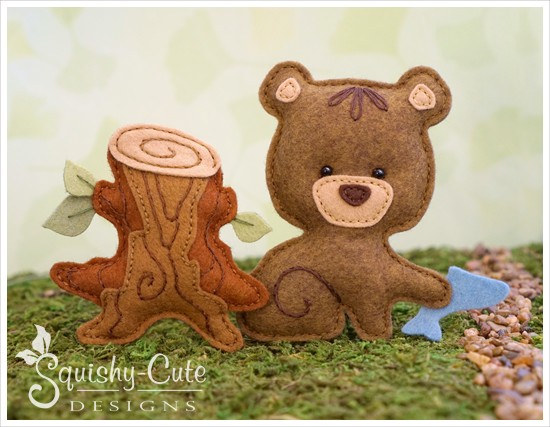 bear sewing pattern, felt bear, baby bear, bear plushie, bear stuffed animal, woodland pattern, ornament pattern