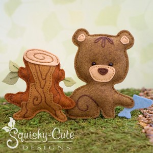 bear sewing pattern, felt bear, baby bear, bear plushie, bear stuffed animal, woodland pattern, ornament pattern