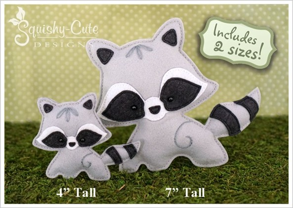 Stuffed Animal Sewing Patterns Squishy Cute Designsbaby Raccoon