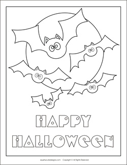 Free Halloween Coloring Pages Halloween Coloring Sheets - coloring pages halloween bats