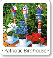 birdhouse crafts, patriotic, 4th of July