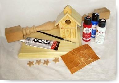 birdhouse crafts, patriotic, 4th of july