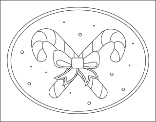 Candy Cane Coloring Pages Christmas Sheets Free