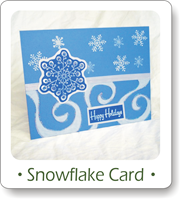 Christmas card ideas, snowflake card ideas, homemade Christmas cards, snowflake stamp cards
