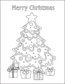 Blank Tree Coloring Page Trees And Bells Pages To Print Cartoon ... | 320x250