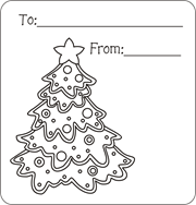 Christmas Tree Gift Tags Holly Printable