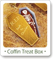 free halloween printables, coffin treat box