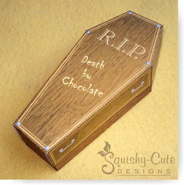 Free Halloween Printables Coffin Treat Box