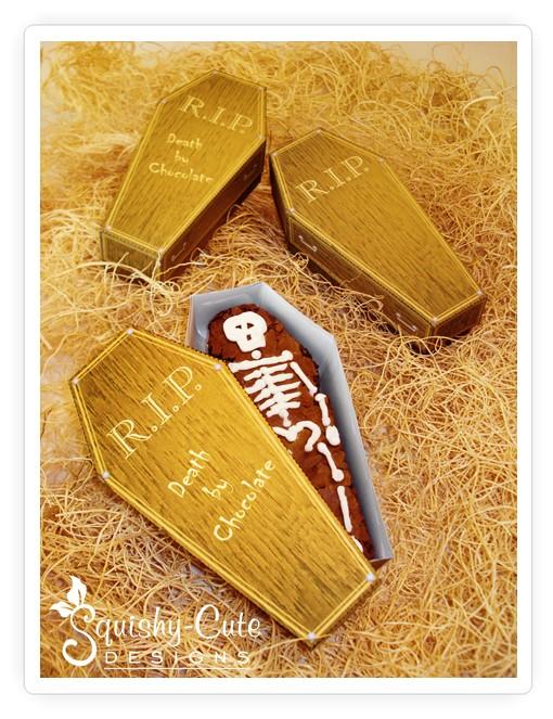 free halloween printables, coffin treat box
