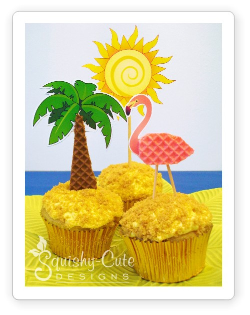 Cupcake Decorating Ideas Tropical Beach