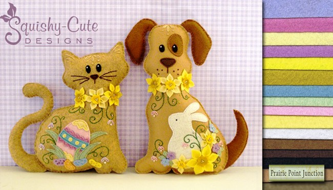felt sewing pattern, giveaway, wool felt, dog pattern, cat pattern