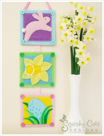free printable sewing patterns, Easter sewing pattern, free Easter pattern, wall hanging, Easter banner, Easter bunny, easy sewing patterns