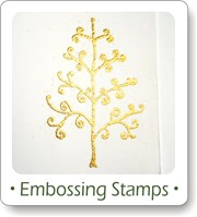 embossing with rubber stamps