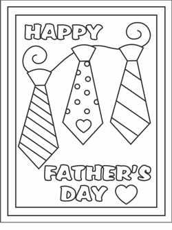 Free Printable Fathers Day Cards Coloring