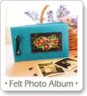 Free sewing projects, felt flowers, photo album
