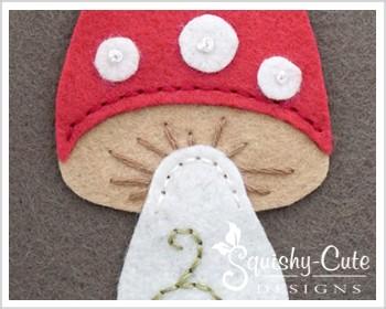 felt mushroom, mushroom sewing pattern, free sewing pattern, woodland plushie, woodland sewing pattern, felt mushroom template, whimsical mushroom