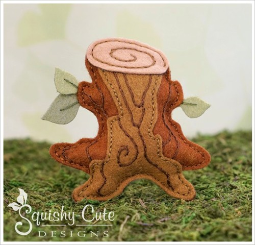 felt tree stump pattern, free felt pattern, stump sewing pattern, tree stump pattern, woodland template, free felt woodland pattern, free stump pattern, woodland sewing patterns, woodland mobile patterns, woodland ornament pattern, woodland plushie, forest mobile patterns, autumn sewing pattern, kids sewing pattern