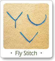 fly stitch, how to do the fly stitch, fly stitch horizontal, fly stitch vertical
