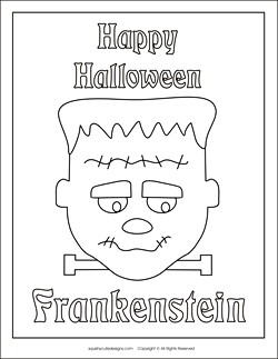 Stuffed animal sewing patterns squishy cute designsfree for Frankenstein coloring book pages