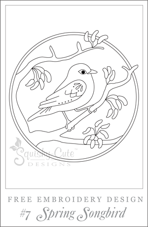 free embroidery patterns, embroidery designs, spring bird sewing pattern, free printable embroidery patterns, hand embroidery designs, printable embroidery pattern
