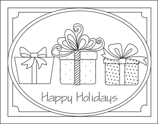 christmas gifts coloring card christmas presents coloring christmas coloring pages christmas coloring cards