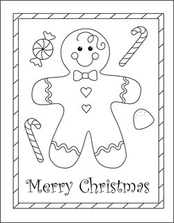This is an image of Stupendous Printable Coloring Christmas Cards