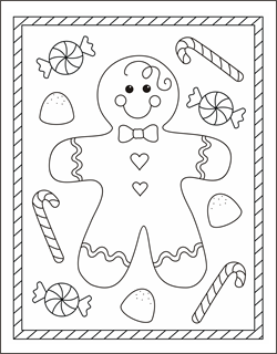 gingerbread boy coloring page gingerbread man coloring pages gingerbread boy coloring sheets christmas - Free Kids Printable Activities