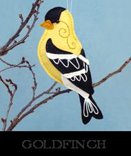 goldfinch pattern, backyard bird, felt bird, goldfinch sewing pattern, yellow bird, Christmas ornament, bird ornament