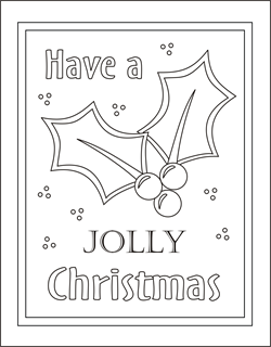 holly coloring pages christmas coloring pages free coloring page christmas coloring sheets - Christmas Color Pages