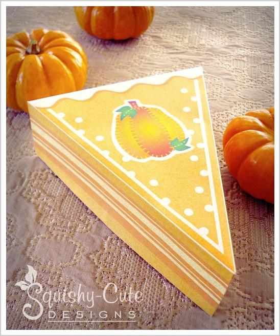 homemade party favor ideas, pumpkin pie box