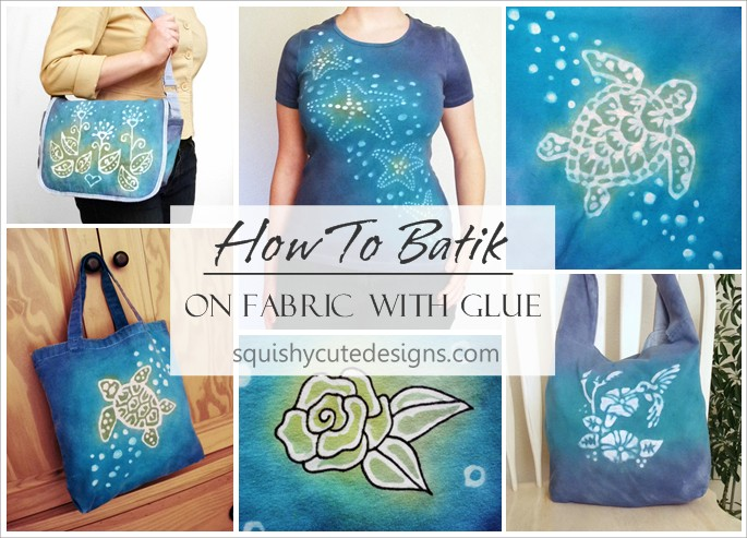 how to batik fabric with glue, tie dye shirts, tie dye instructions, tie dye ideas, tie dye bags, glue resist dye, glue resist art