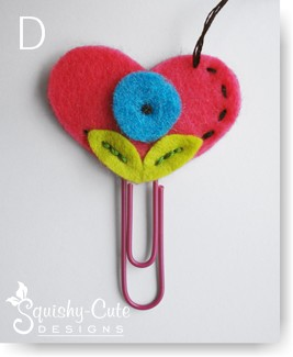 kids sewing projects, heart bookmark, valentines day