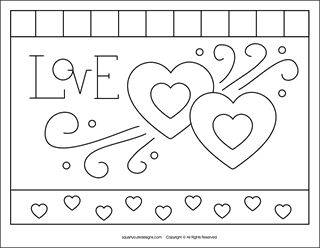 love hearts coloring pages - photo#18