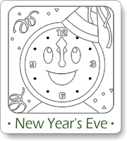new years coloring pages, new years eve coloring pages, new years activities for kids, matching games for kids, new years trivia for kids