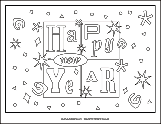 new years coloring page new years eve coloring pages new years activities for kids