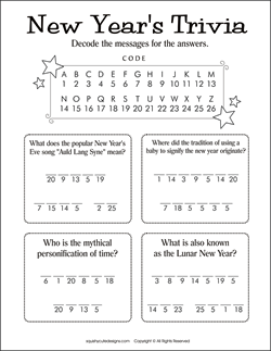 new years trivia for kids new years activities for kids new years party games