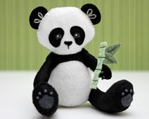 Panda sewing pattern, felt panda, panda plushie
