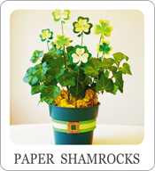 st patricks day centerpiece, paper crafts