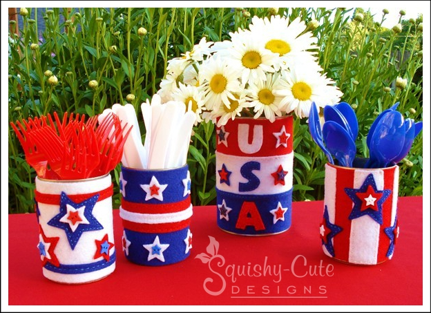 patriotic sewing pattern, patriotic sewing project, free printable sewing patterns, 4th of July projects, embroidery, picnic containers, kids crafts