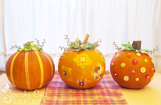 Stuffed animal sewing patterns squishy cute for How to decorate a pumpkin for thanksgiving